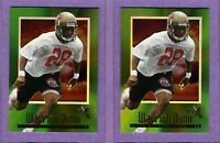 Two (2) card lot of 1997 E-X2000 #30 Warrick Dunn RC - Buccaneers