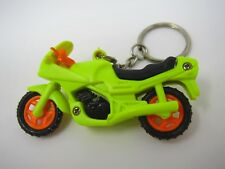 Vintage Foreign Keychain: Fluorescent Motorcycle Fun Design