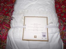 "Pottery Barn Bohemian Lace Trim Bed Skirt, Full, 18"" , New , White, beautiful!"