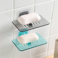 BL_ Self Adhesive Bathroom Wall Mount Soap Storage Rack Holder Tray Dish Plate N