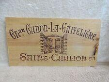 1982 Chateau La Gaffeliere Saint Emilion Malet Roquefort Wood Wine Panel End