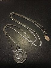 "Bionic Band Sterling Silver Heart Pendant 18""Box Chain Sweetheart"