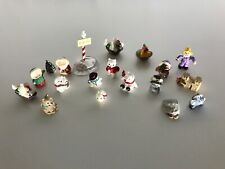 Vintage Hallmark Merry Miniatures Christmas Thanksgiving Lot Of 19 Gold Stickers