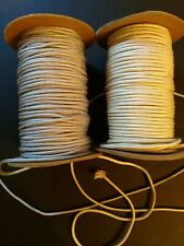 Lot Ofcraft Cord 2 Large Spools Silky Gray And Beige Jewelry/Macrame
