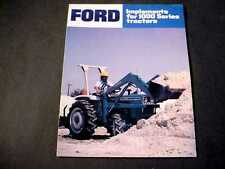 1000 Series Ford Tractor Implements Brochure