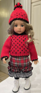"""Seamstress made outfit for 13"""" Effner Little Darling Doll + Boots socks Hat Swea"""
