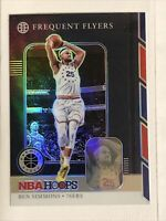 2019-20 NBA Hoops Premium Stock Ben Simmons Silver Holo Prizm Frequent Flyers