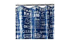 Bathtime Words Shower Curtain - Blue - Room Essentials PEVA New