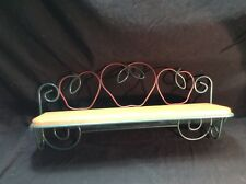 Home Interior Metal Wire And Wood Shelf. In Excellent Condition. 19� X 5.5�