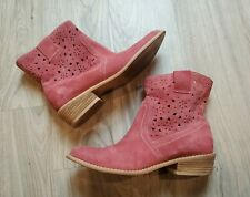 Diba Women's Pink Suede Ankle Boots Western Cowgirl Ankle Size 9 Ladies
