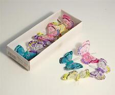 4 x Bridal Assorted Colour Small Butterflies Table Favour Decor Wedding Decor