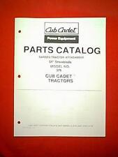 "UB CADET GARDEN TRACTOR 54"" SNOWBLADE PLOW MODEL # 376 ATTACHMENT PARTS MANUAL"