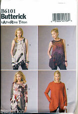 BUTTERICK SEWING PATTERN 6101 MISSES 16-26 KATHERINE TILTON TOP/TUNIC PLUS SIZES