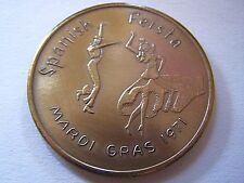 1971 Irish Channel SPANISH FIESTA Antique Bronze Mardi Gras Doubloon