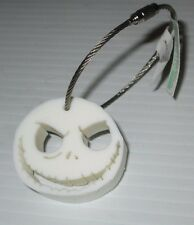 DISNEY JACK SKELLINGTON NIGHTMARE BEFORE XMAS WIRE KEY RING WITH  THICK VINYL
