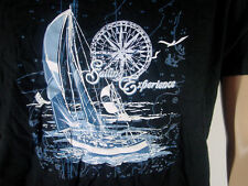 "T-Shirt "" Sailing Segeln Segelboot  "" Größe L schwarz NEU"