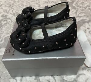 Stuart Weitzman Baby Pali Charlotte Black Shoes Size 3 (6  – 9 months) - NEW