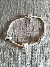 Genuine pandora bracelet with charms used
