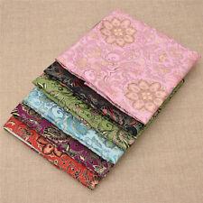Brocade Jacquard Flowers Fabric Dress Clothes DIY Handcraft Making Accessories