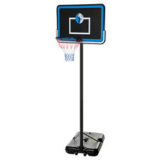 """10FT Adjustable Portable Basketball System 44"""" Hoop Backboard Rim System B44"""