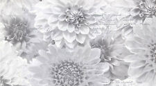 Muriva Chrysanth Wallpaper 128505 Feature Wall Floral Calligraphy Silver