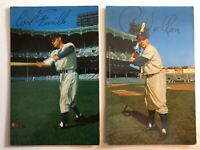 1953-55 Dormand Carl Furillo & Pee Wee Reese Brooklyn Dodgers Postcard EXCELLENT