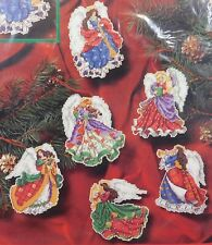 New! ANGELS OF CHRISTMAS ORNAMENTS Dimensions Cross Stitch Kit! JAMES HIMSWORTH