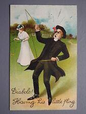 R&L Postcard: Birn Bros BB, Diablo Edwardian Toy Game, Vicar, Lady Little Fling
