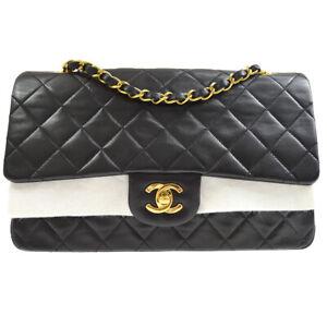 CHANEL Classic Double Flap Medium Chain Shoulder Bag 3091088 vm Black 10338