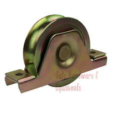 """10 Pack 3 1/2"""" Sliding Gate Track Groove Wheel Bearing with Bracket Gold Color"""