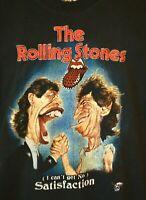 Vintage Rock & Death Men's Size Large Rolling Stones Satisfaction TShirt Rare