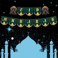 1Pack Eid Mubarak Party Banner Letters Pull Flag for Ramadan Decoration Islfw