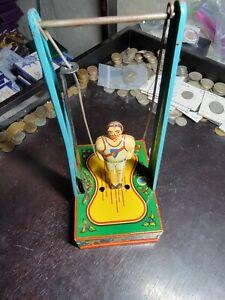 Wyandotte Toy Gymnast Wind Up Tin Toy
