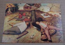"Postcard Art Pieter Bruegel "" The Land Of The Plenty 1567"" unposted"