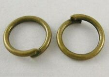 500 Pcs Antique Bronze  Open Jump Rings 7mm Dia(160391-LB)
