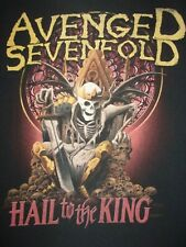 Avenged Sevenfold Hail to the King Heavy Metal Band T Shirt Mens Medium / Large