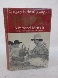 Gregory Hemingway PAPA A Personal Memoir 1976 Houghton Mifflin Co., Boston HC/DJ