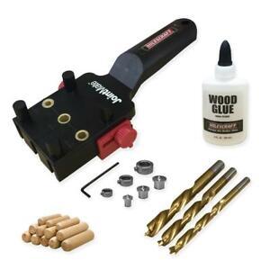 Milescraft Dowel Jig Pins Doweling Self Centering Drill Bit Wood Furniture Kit