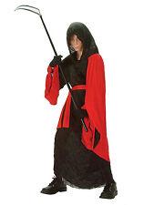 Phantom Warrior Child Costume Red Black Reaper Robe Size Small 4-6