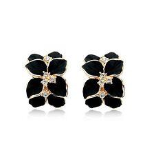 Italina Rigant Genuine Austrian Crystal Flower Earrings With Swarovski Crystal