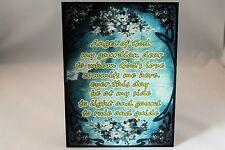 Vintage Angel of God prayer A5 metal wall sign plaque gift present idea