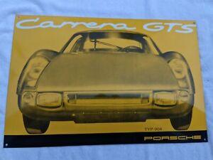 Porsche Enameled Metal Sign / 904 Carrera GTS / As-new / NO RESERVE