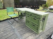 MILITARY SURPLUS HARDIGG TENT FIELD DESK PLUS CHAIR TABLE CASE CONTAINER ARMY