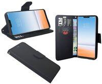 Book-Style Handy Hülle Tasche Zubehör Etui in Schwarz für LG G7 ThinQ @COFI