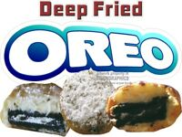 DEEP FRIED OREO VINYL DECAL (CHOOSE SIZE) CONCESSION STAND BOARDWALK