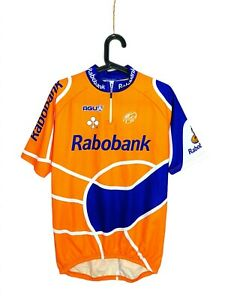 Vintage Agu Rabobank Colnago Uci Pro Tour Cycling Jersey Orange size Large, VLD