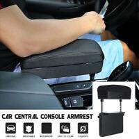 Universal Retractable Car Center Central Console Armrest Box PU Storage Case