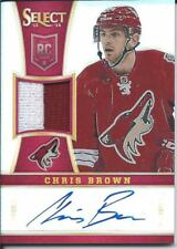 2013-14 Panini Select hockey CHRIS BROWN #249 13/25 - Jersey Autograph - Prizm