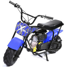 Pro-Series 80cc Mini Dirt Bike Gas-Power 4 Stroke Pocket Bike Motorcycle Blue