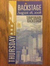 2008 Democratic National Convention TEMPORARY BACKSTAGE Credential Barack Obama